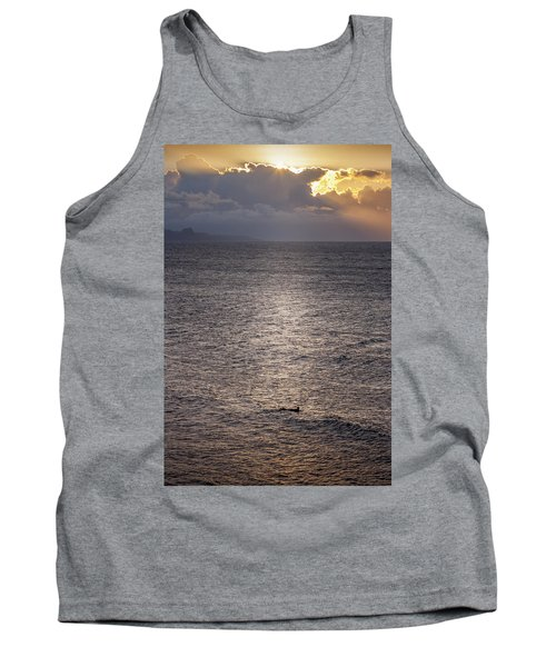 Waiting For The Last Wave Of The Day Tank Top