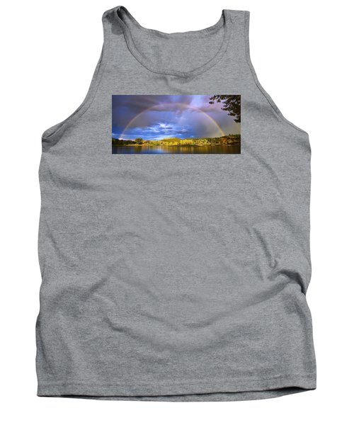 Tank Top featuring the photograph Wake Up Rainbow  by Kadek Susanto