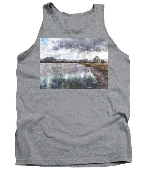Tank Top featuring the painting Walden Ponds On An April Evening by Anne Gifford