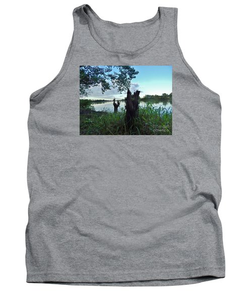 Walk Along The River In Verdun Tank Top by Reb Frost
