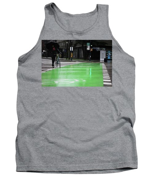 Tank Top featuring the photograph Walk With Wheels  by Empty Wall
