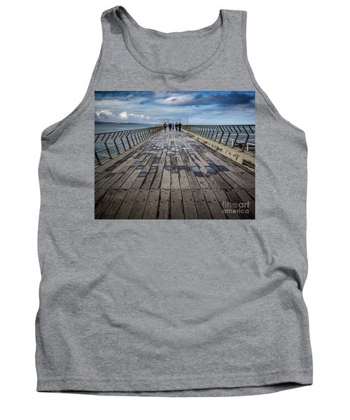 Tank Top featuring the photograph Walking The Pier by Perry Webster
