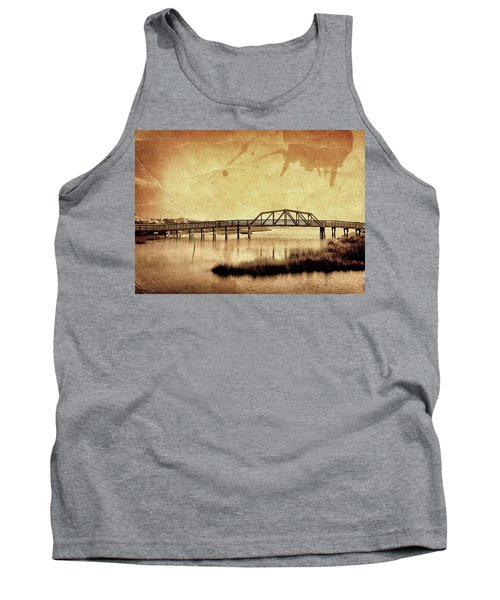 Walkway Over The Sound, Topsail Beach, North Carolina Tank Top