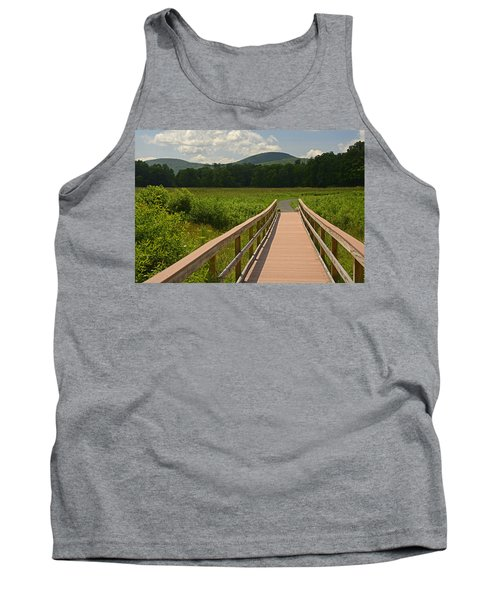 Walkway To A Mountain Color Tank Top