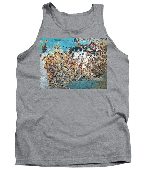 Tank Top featuring the photograph Wall Abstract 106 by Maria Huntley
