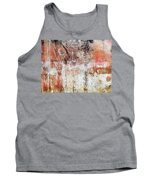Tank Top featuring the photograph Wall Abstract  183 by Maria Huntley