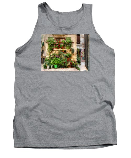 Wall Of Flowers Tank Top by Uri Baruch