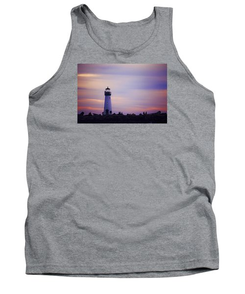 Tank Top featuring the photograph Walton Lighthouse by Lora Lee Chapman