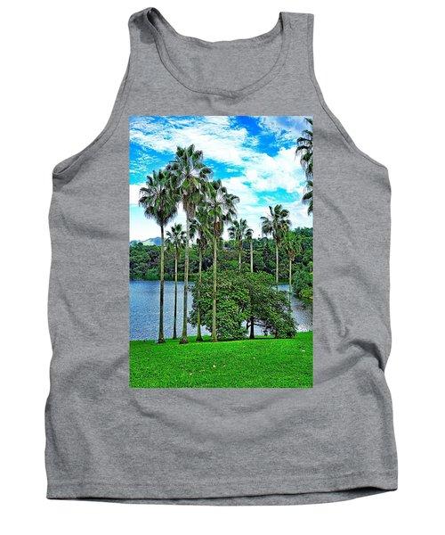 Waokele Pond Palms And Sky Tank Top
