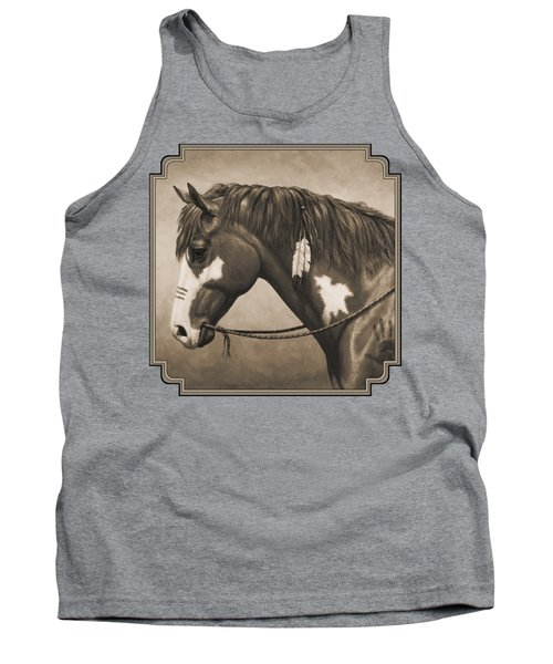 War Horse Aged Photo Fx Tank Top by Crista Forest