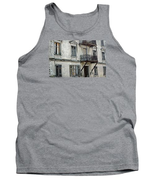 Abandoned War Torn Building In Bregenz Austria Tank Top