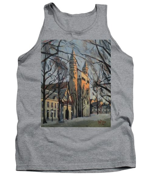 Warm Winterlight Olv Plein Tank Top