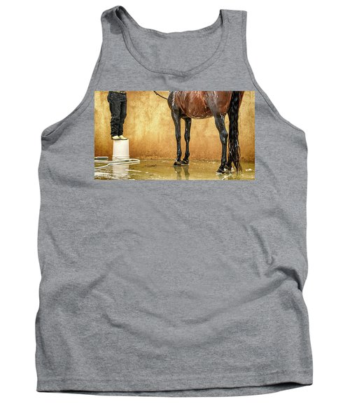 Washing A Horse Tank Top
