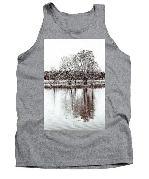 Tank Top featuring the photograph Water And Trees by Wade Brooks