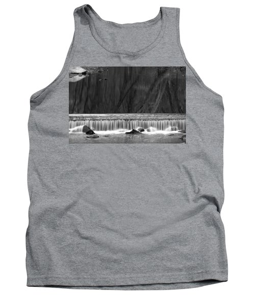 Tank Top featuring the photograph Water Fall In Black And White by Dorin Adrian Berbier