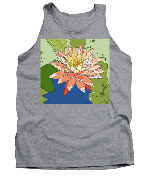 Water Lily And Duck Weed Tank Top by Jamie Downs