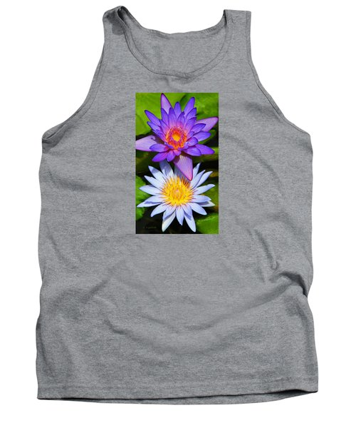 Tank Top featuring the photograph Water Lily Blossoms by Kerri Ligatich