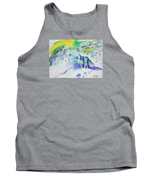 Watercolor - Arctic Fox Tank Top