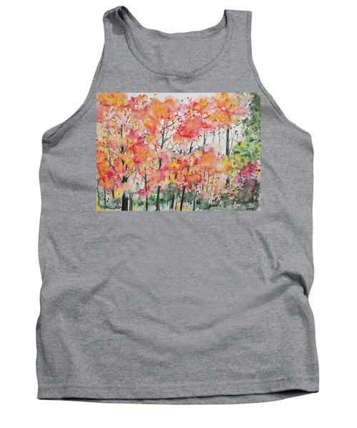 Watercolor - Autumn Forest Tank Top