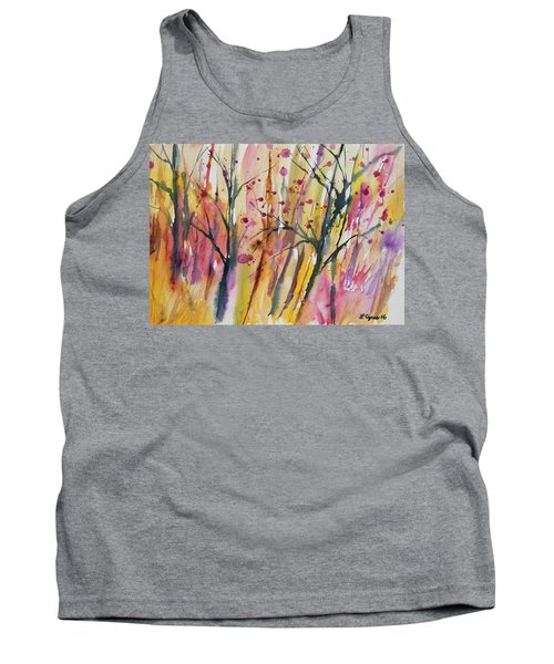 Watercolor - Autumn Forest Impression Tank Top