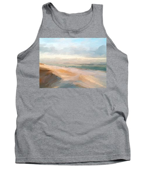 Watercolor Beach Abstract Tank Top by Anthony Fishburne