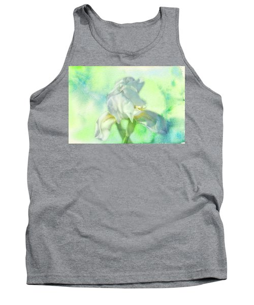 Watercolor Iris Tank Top by Joan Bertucci