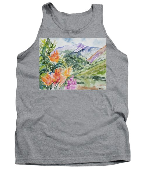 Watercolor - San Juans Summer Mountains And Wildflowers Tank Top
