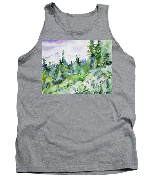 Watercolor - Summer In The Rockies Tank Top