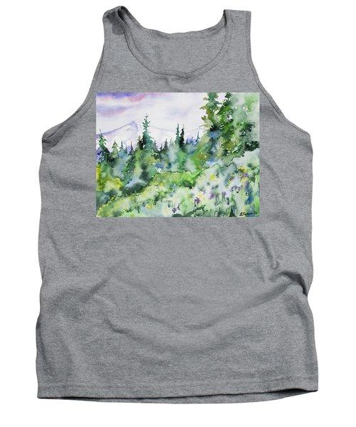 Watercolor - Summer In The Rockies Tank Top