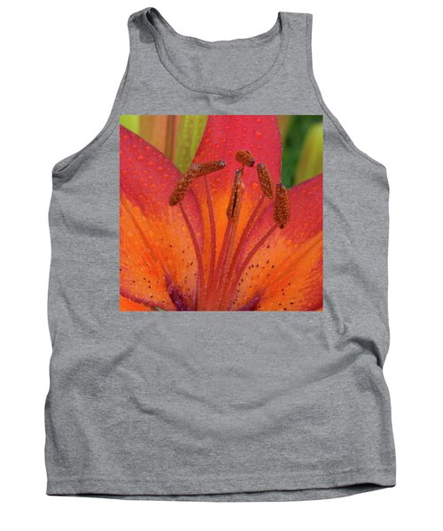 Tank Top featuring the photograph Watered Lily by Jean Noren