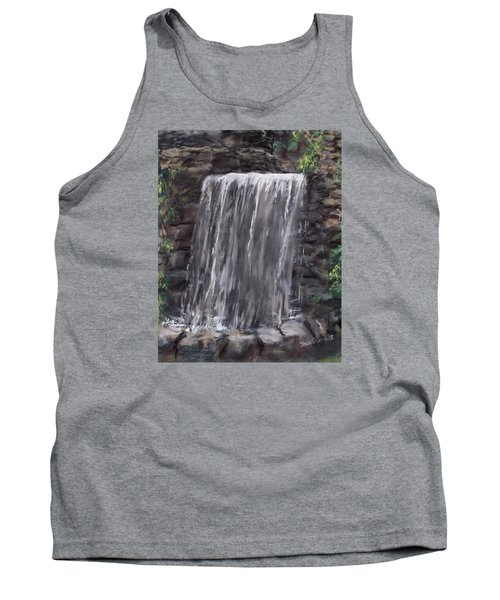 Tank Top featuring the painting Waterfall At Longfellow's Gristmill by Jack Skinner