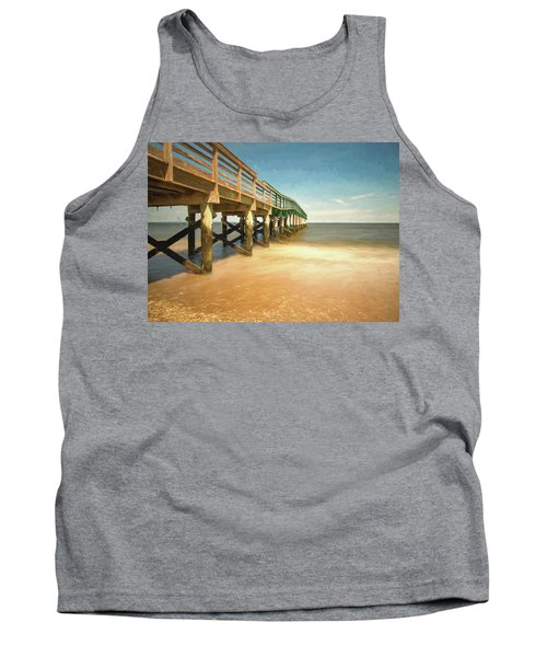 Tank Top featuring the photograph Waterfront Park Pier 1 by Gary Slawsky