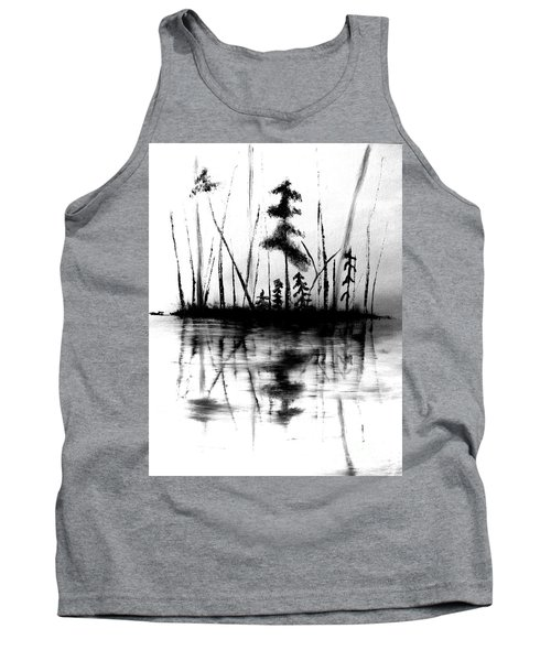 Tank Top featuring the painting Waters Edge by Denise Tomasura