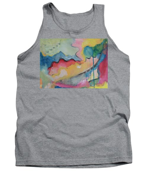 Tank Top featuring the digital art Watery Abstract by Susan Stone