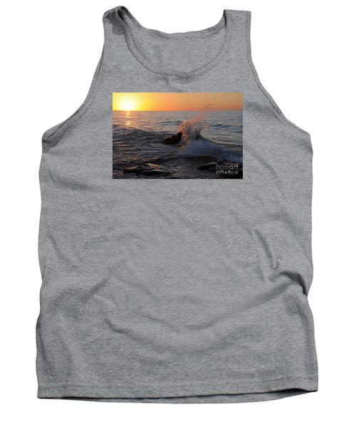 Tank Top featuring the photograph Waves At Sunrise by Sandra Updyke