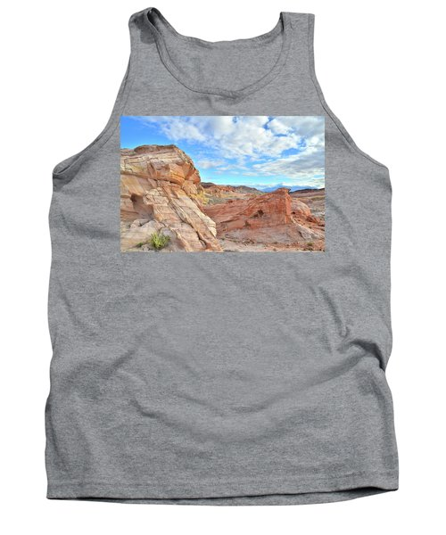 Waves Of Sandstone In Valley Of Fire Tank Top by Ray Mathis