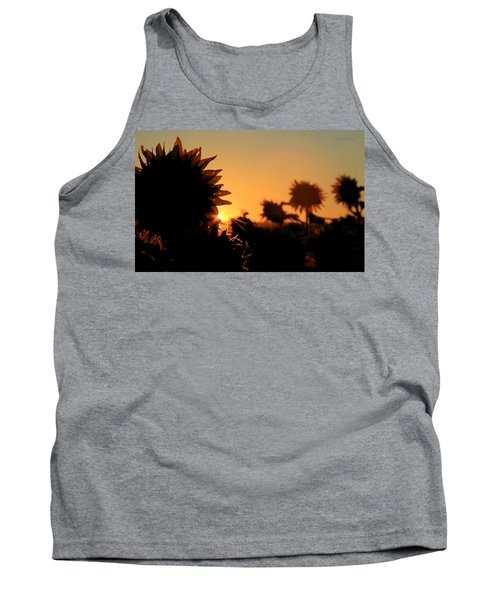 Tank Top featuring the photograph We Are Sunflowers by Chris Berry