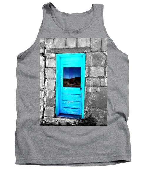Weathered Blue Tank Top