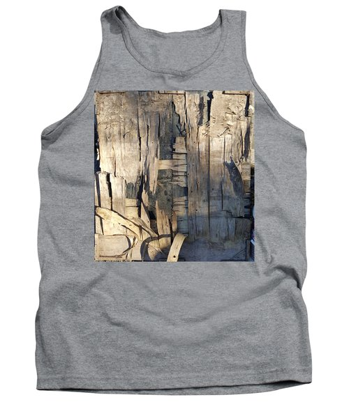 Weathered Plywood Composition Tank Top