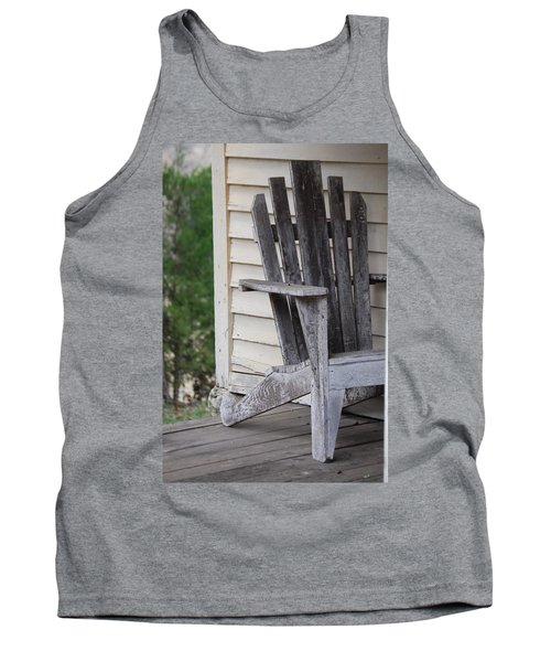 Tank Top featuring the photograph Weathered Porch Chair by Debbie Karnes