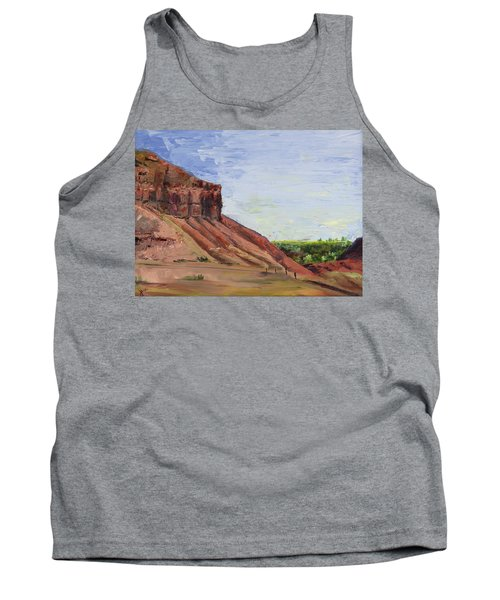 Tank Top featuring the painting Weber Sandstone by Jane Autry