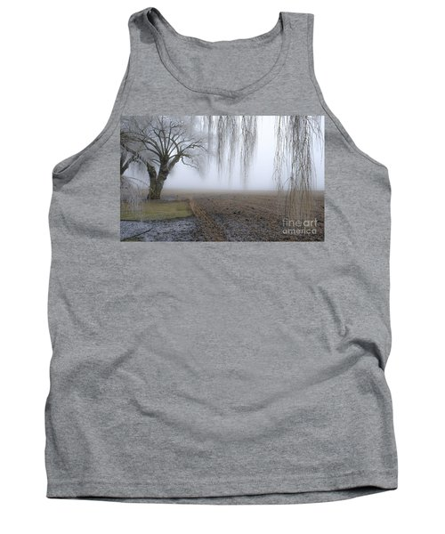 Weeping Frozen Willow Tank Top by Amy Fearn