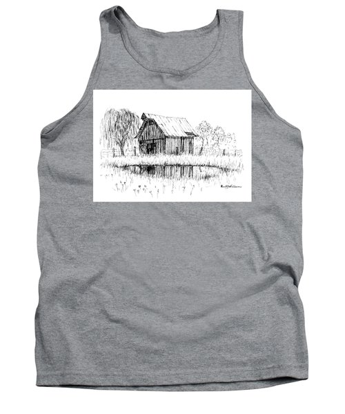 Weeping Willow And Barn Two Tank Top