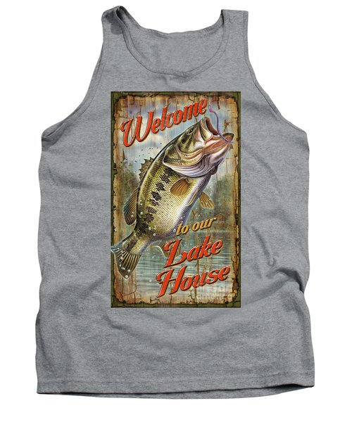 Welcome Lake House Sign Tank Top