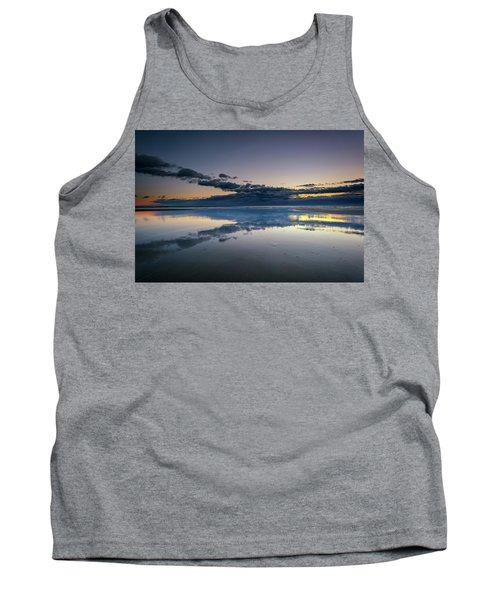Tank Top featuring the photograph Wells Beach Reflections by Rick Berk