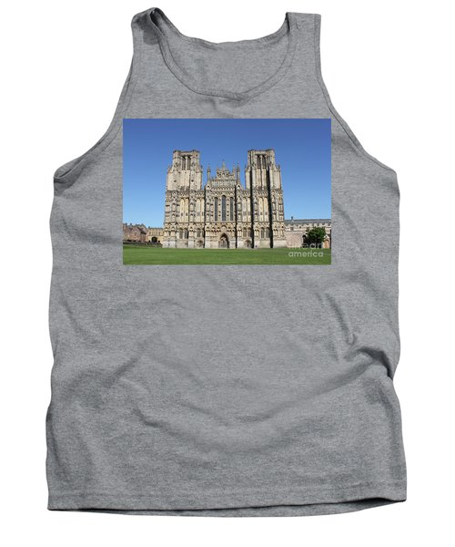 Tank Top featuring the photograph Wells Cathedral by Linda Prewer
