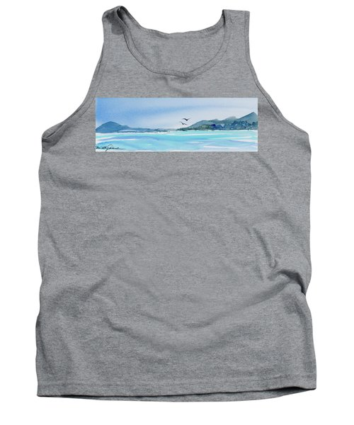 Tank Top featuring the painting West Coast  Isle Of Pines, New Caledonia by Dorothy Darden