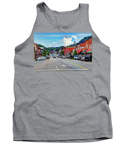West Jefferson Streetscape Tank Top by Dale R Carlson