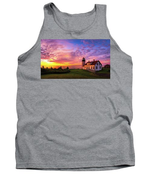 West Quoddy Head Light Tank Top by Robert Clifford