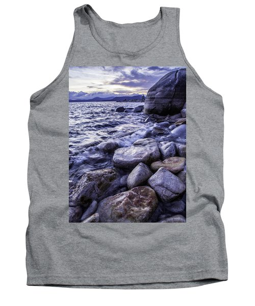 Wet Rocks At Sunset Tank Top